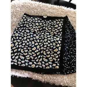 J. Crew Faux Wrap Skirt Size 16